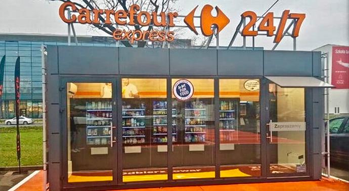 Carrefour prueba su concepto de tienda automatizada en Varsovia (Polonia)