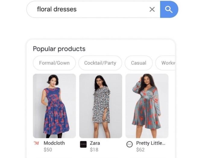 Google unifica en su buscador, la oferta de un millón de marcas y tiendas de moda