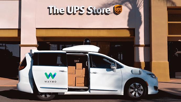 Waymo, el coche autónomo de Google, transportista de UPS