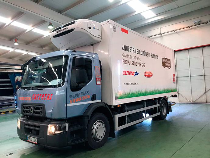 Carreras y Cuétara prueban vehículos a gas natural para logística de última milla