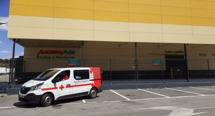 Ahorramas cede un almacén logístico a Cruz Roja en Mercamadrid