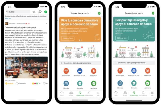 Nextdoor añade nuevas funcionalidades para ayudar al comercio de barrio