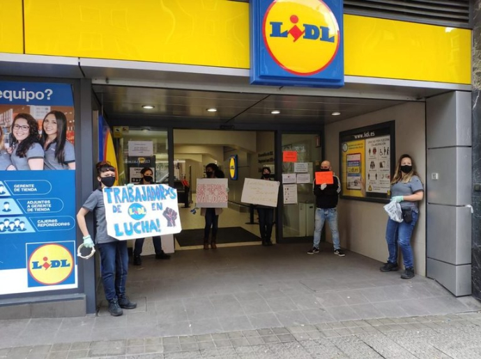 CCOO y UGT convocan el 4 de junio huelga en Lidl