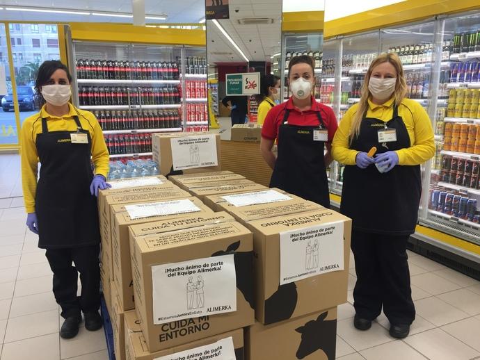 Alimerka dona casi 3.000 kg de productos a hospitales de Castilla y León