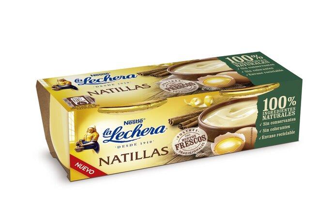 La Lechera presenta sus nuevas natillas de huevo con envase de vidrio 100% sostenible