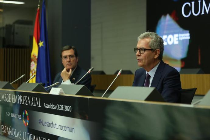 Garamendi e Isla piden consenso en la presentación de las conclusiones de la cumbre de la CEOE