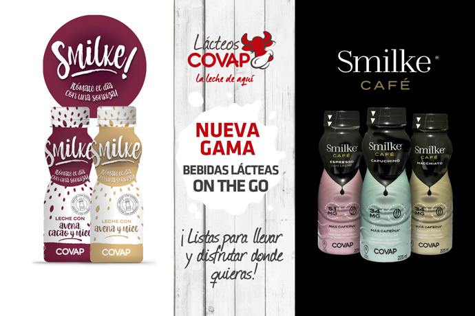Smilke, nueva gama de bebidas lácteas 'on the go'