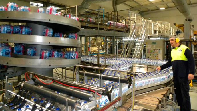 Fábrica de la división de aguas de Nestlé en Herrera del Duque (Extremadura)