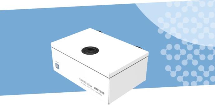 Sanitize Box es una caja que desinfecta con ozono las superficies de los objetos que han podido entrar en contacto con el coronavirus