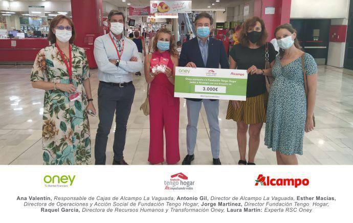 Oney y Alcampo se unen para ayudar a familias en riesgo de exclusión