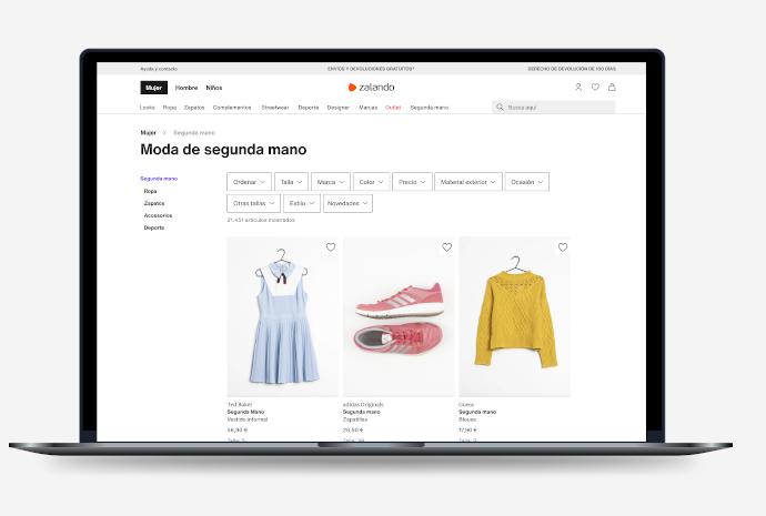 Zalando entra en el negocio de moda de segunda mano