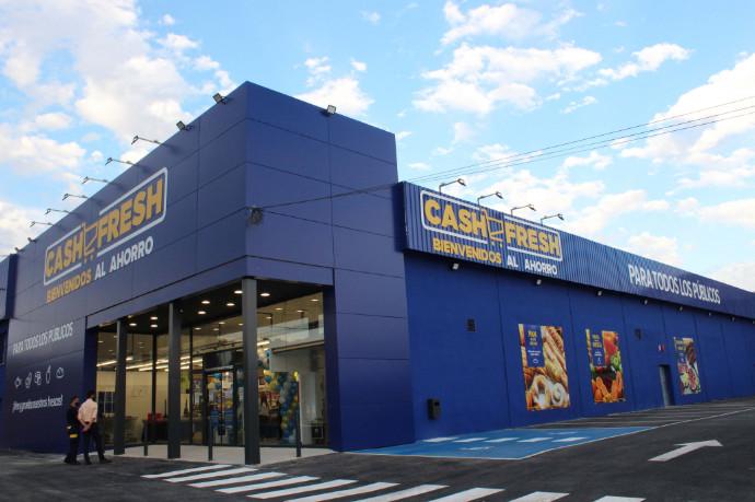 Imagen de la entrada del Cash Fresh, del Grupo MAS, en Posadas (Córdoba).