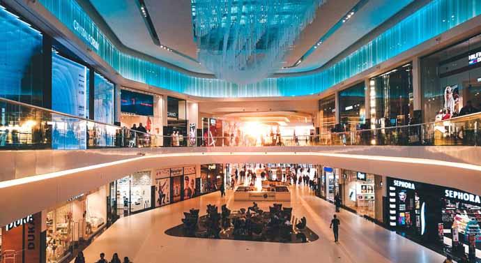 La afluencia de centros comerciales