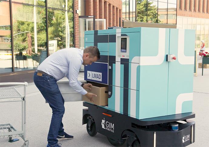 Los supermercados K-Market Otaniemi prueban la entrega a domicilio con robots