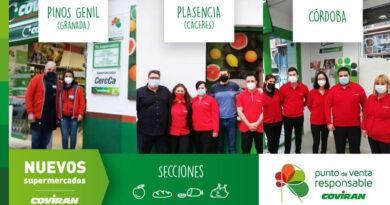 Covirán inaugura tres nuevas tiendas en Cáceres, Córdoba y Granada