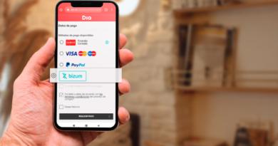 Dia incorpora el pago por Bizum a su compra online junto
