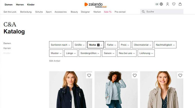 C&A venderá en Zalando España, tras los buenos resultados en Alemania