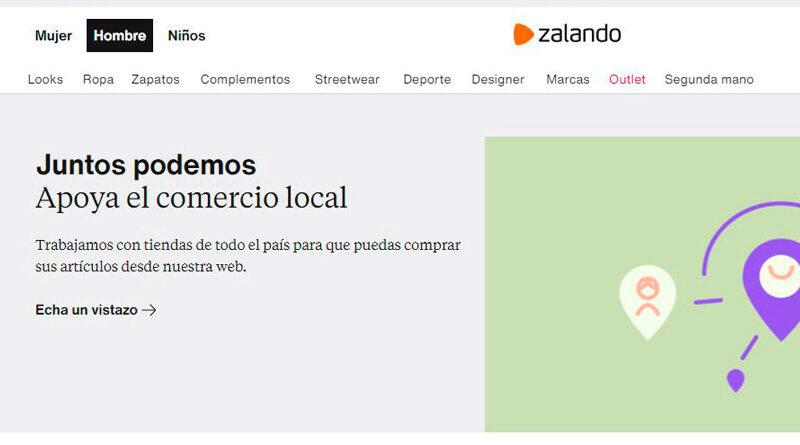 Zalando lanza una web específica para Connected Retail
