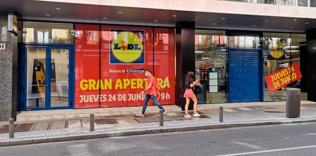 Nueva tienda urbana de Lidl, en el barrio de Malasaña (Madrid)