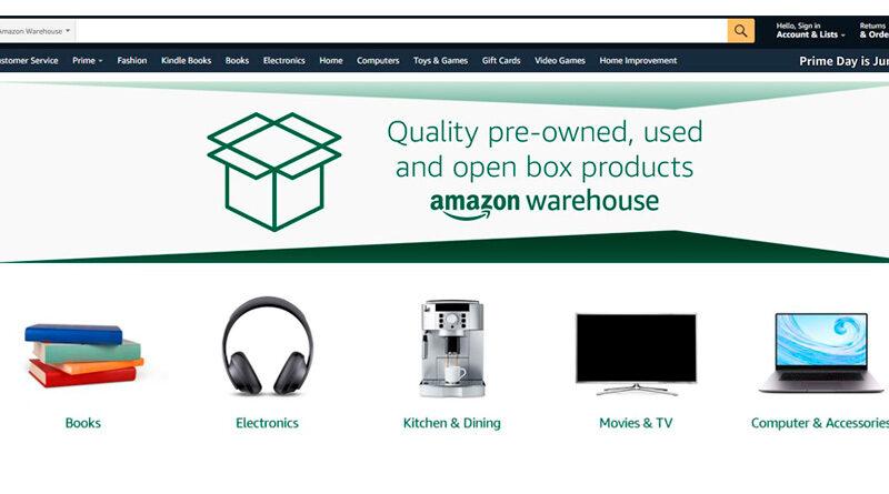 Amazon Warehouse. Un nuevo espacio para productos de segunda mano