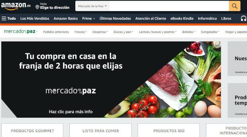 El Mercado de la Paz se suma a la oferta de alimentación de Amazon Prime