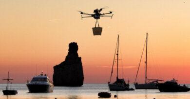 Drone to Yatch, la empresa española que lleva el delivery al mar con drones